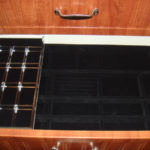 Felt Lined Jewelry Organizer with Sliding Lucite Tray