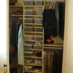 Almond Reach-in Closet with Adjustable Shelf Stack
