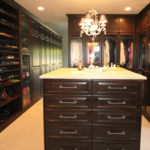 Old World Traditonal Look in Brown Pearwood - Seeded Glass Doors